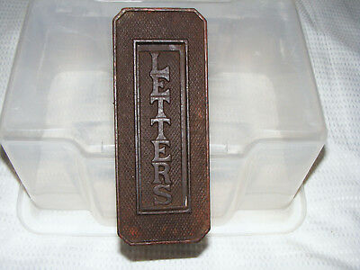 Cast   Iron   c1930's   Door   Letterbox   Upright  Opening  With  SMALL Opening