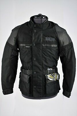 Richa Millennium Black Motorcycle Motorbike Waterproof Jacket Small
