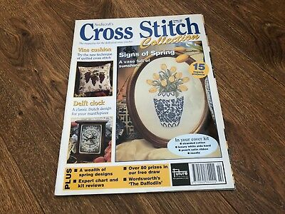 Cross Stitch Collection Magazine #15 Signs Of Spring, Delft Clock, Vine Cushion