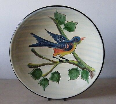 Vintage Puigdemont Art Pottery Wall Plate Hand Painted 31.5 cm