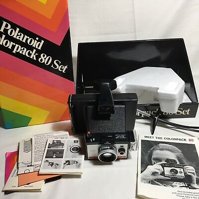 Polaroid Colorpak 80 Set Land Camera W/ Original Box