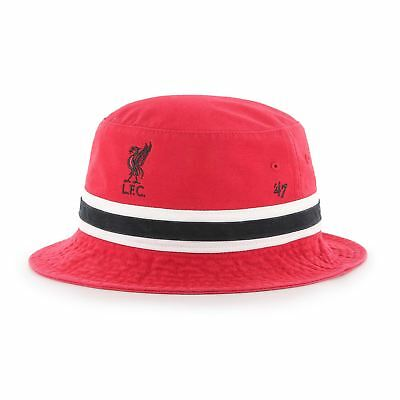 8a1b94cfa0f Liverpool FC Red Mens Striped `47 Bucket LFC Official