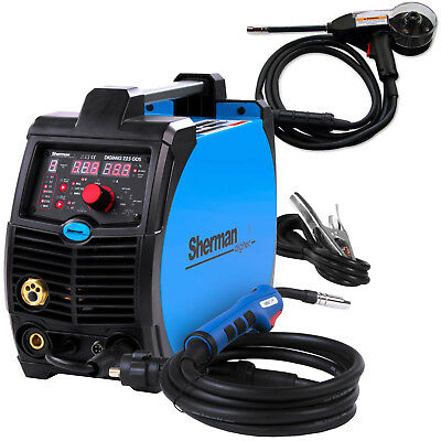 220 AMP MIG Welder Welding Machine Portable SHERMAN DIGIMIG 225GDS SPOOL GUN
