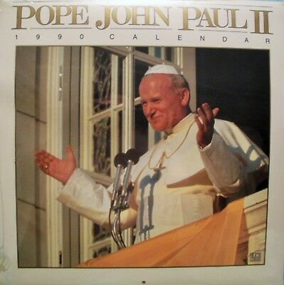 Pope John Paul Ii 1990 Sealed Calendar