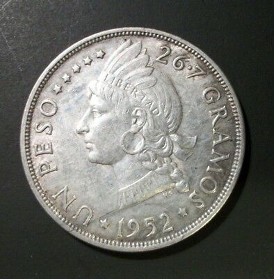 Dominican Republic 1952 1 Peso Silver  coin