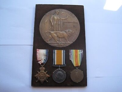 Ww1 Death Plaque,1914 Star,war & Victory Medals,mid,major William Trant Chambers