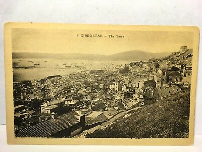 Postcard Gibralter - The Town View - Divided Back - Photo