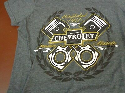 GM Brand  Chevrolet  American Muscle Established 1911 Small 34/36  T Shirt   L4