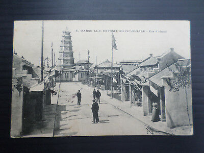France  Cpa  Marseille  Exposition Coloniale  Rue  D' Hanoi  Voyagee  28/8/1906
