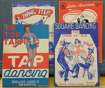 4 Dance Books Square Dance Tap Dance Swing Steps Latin-American Dance