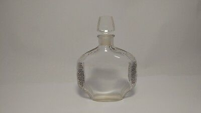Baccarat Fontanis c1921 Jasmin Perfume Bottle Frosted Embossed Silver Flowers
