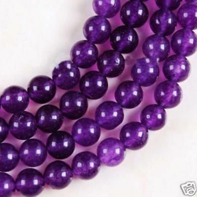 """New 6mm Russican Amethyst Round Gemstone Loose Beads 15"""" AAA"""