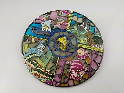 Alice in Wonderland Disney Fantasy Stained Glass Pin LE 100 4-inch