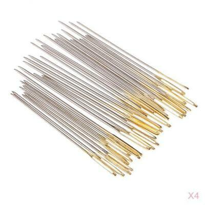 120Pcs Assorted Hand Embroidery Sewing Needles Set Gold Tail Size 22 24 26