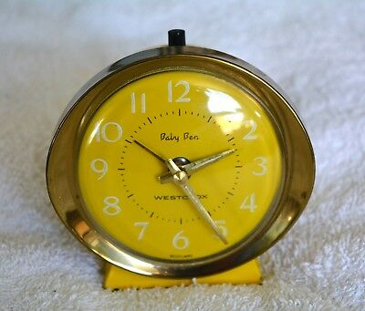 Baby Ben Alarm Clock - Yellow Working Collectable