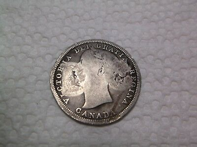1858  CANADA   20 cents