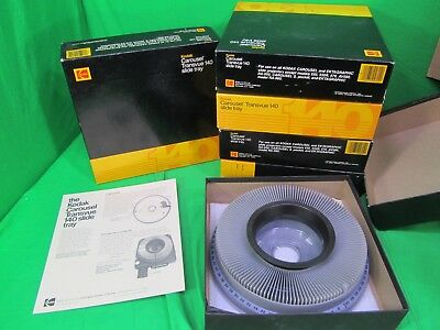 Lot of 6 Kodak Carousel Transvue 140 Slide Tray Pre Owned in awesome condition !