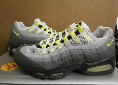 low priced 7dd8f bae92 NIKE AIR MAX 95 Sz 9.5 vintage 2003 3m grey neon rare white lot OG