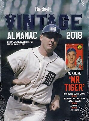 2018 Beckett Vintage Almanac 2018 sealed copy Al Kaline Cover All Sports