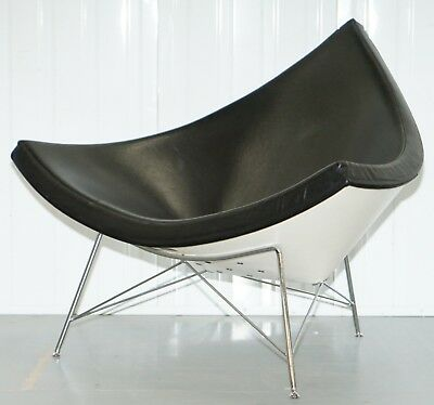 Rrp £4590 Vitra Eames Coconut Easy Chair In Premium Leather Art Modern Cool