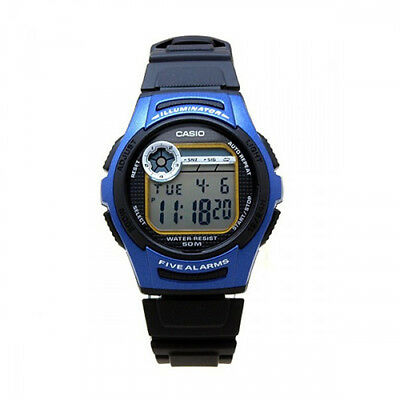 Casio Men's Sports Digital 50m Dual Time Resin Blue Watch W213-2A