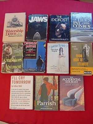 LOT OF 11~BOOKS TO FILMS, & MOVIE TIE-IN~HARDCOVERS w/DUSTJACKETS~GREAT TITLES!