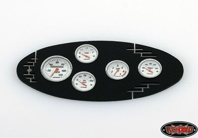 RC4WD 1/10 Black Instrument Panel with Instrument Decal Sheet Sty RC4ZS0908