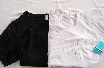 lot of 2 WOMEN'S short sleeve PLUS size t-shirts size 3X  New With Tags