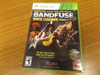 BANDFUSE: ROCK LEGENDS with cables - Xbox 360 - nd New ... on