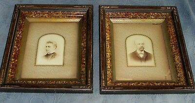 Pair of Antique Eastlake Victorian Picture Frames,Husband & Wife Photos