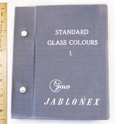Jaco Jablonex Vintage Czech Glass Button Sample Book 1 Standard Colors INTACT
