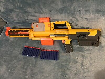 NERF N-Strike Deploy CS-6 w/Barrel Extention and Tactical Red Light;TESTED