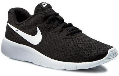 timeless design be559 87ad9 NIKE Tanjun Black+White Kids Running Sneakers Youth Shoes 818382 818381-011  NEW