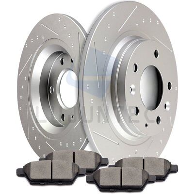 Rear Discs Brake Rotors Ceramic Pads For 2007 2008 2009 Ford Fusion Lincoln MKZ