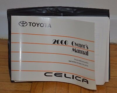 2000 Toyota celica owner's manual