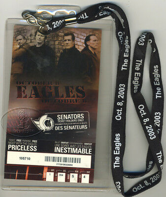 Rare EAGLES 2003 Photo Concert Ticket + EAGLES Lanyard Unique