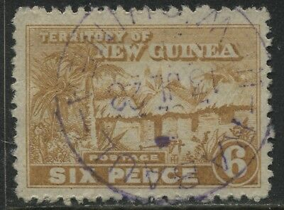 New Guinea 1925 6d yellow bister used