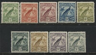 New Guinea 1931 definitives 1d to 1/ mint o.g.