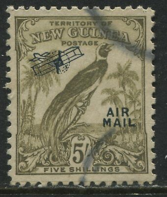 New Guinea 1932 overprinted Airmail 5/ olive brown used