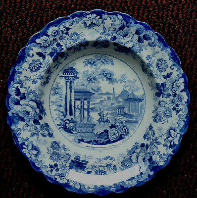 Minton Pre 1840, Corinthian Pattern, Transfer Printed Plate, Impressed To Base