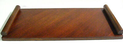 1940s Rare / One Of A Kind Hand Made Art Deco Wood Serving / Bar Tray, Beautiful