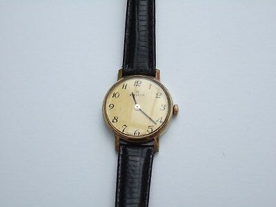 EDOX Swiss made ladies gold coloured analogue wristwatch, vintage. WORKING ORDER