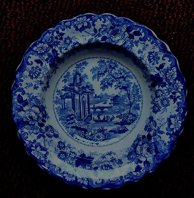Pre 1840 Minton, Corinthian Pattern Transfer Printed Plate  Impressed C To Base