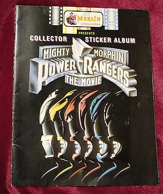 MIGHTY MORPHIN POWER RANGERS:THE MOVIE, Collector Sticker Album, Merlin, 1995,VG