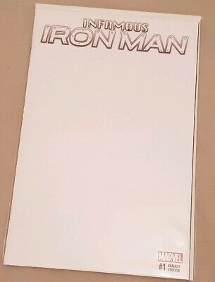 Infamous Iron Man #1 Blank Sketch Cover Variant Marvel Comics