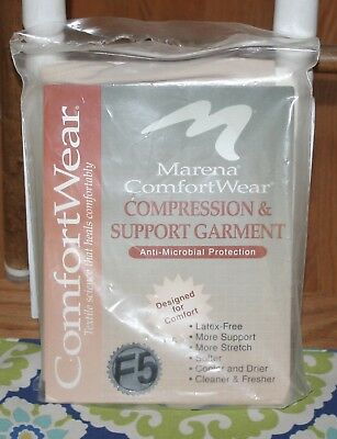 New Marena ComfortWear Compression Bodysuit Mid-thigh Suspenders 2 Stage Size L