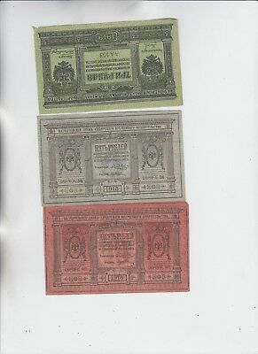 Russia Paper money 3 old notes  vf and better