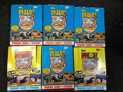 6 Box LOT 1991 Victory Series TOPPS Desert Storm Trading Cards Stickers.