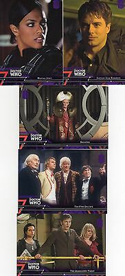 Doctor Who Topps Extraterrestrial Encounters 5 purple parallel; 19,20,28,62 & 75