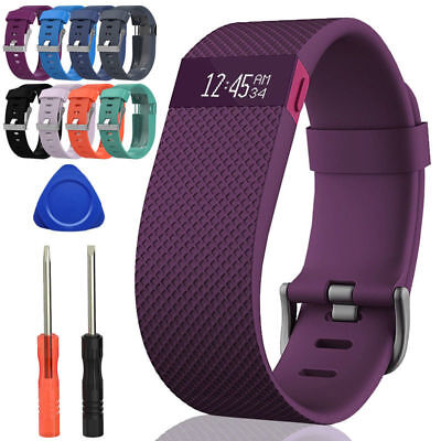 Silicone Strap Wristband Replacement Watch Band With Tools for Fitbit Charge HR